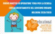 Nuovo Master in Operatore Yoga per la Scuola a Bologna, con accreditamento del Governo Indiano